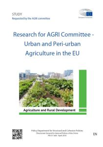 Urban and peri-urban Agriculture in the EU