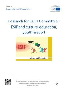 ESIF and culture, education, youth & sport – the use of European Structural and Investment Funds in policy areas of the Committee on Culture & Education