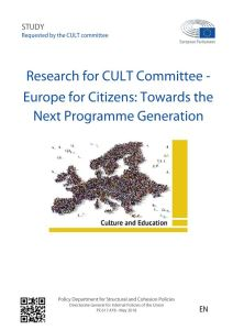 Europe for Citizens: Towards the Next Programme Generation