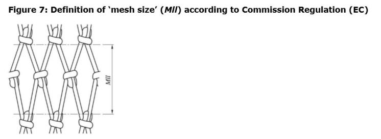 Figure 7: Definition of 'mesh size' (Mll) according to Commission Regulation (EC)