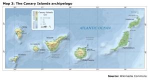 Map 3: The Canary Islands archipelago