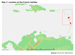 Map 7: Location of the French Antilles