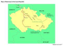 Map 2: Waterways in the Czech Republic