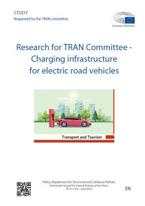 Charging infrastructure for electric road vehicles