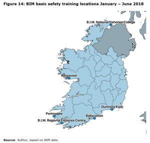 Figure 14: BIM basic safety training locations January – June 2018