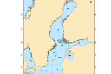 Map 1: The Baltic Sea and adjacent waters with limits of ICES Sub-Divisions (SD) indicated
