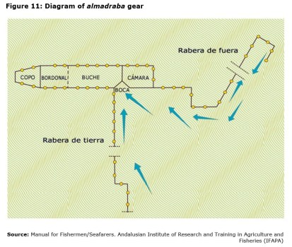 Figure 11: Diagram of almadraba gear