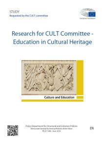 Education in Cultural Heritage