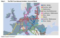 Map 1: The TEN-T Core Network Corridors - focus on Poland