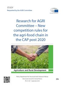 New competition rules for the agri-food chain in the CAP post 2020