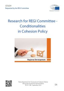Conditionalities in Cohesion Policy
