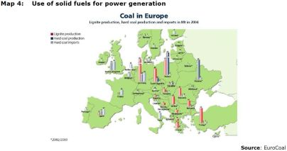 Map 4: Use of solid fuels for power generation