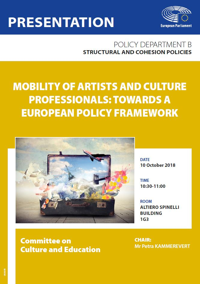 Mobility of artists and culture professionals – towards a European policy framework