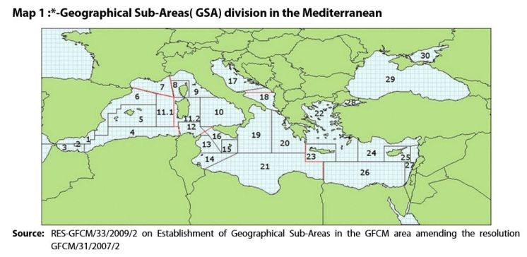 GSA division in the Mediterranean
