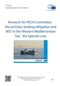 Discard ban, landing obligation and MSY in the Western Mediterranean Sea - the Spanish case