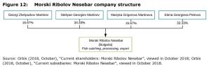 Figure 12: Morski Ribolov Nesebar company structure