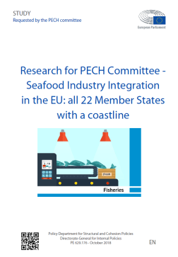 Seafood Industry Integration in the EU: all 22 Member States with a coastline