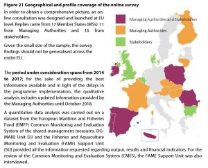 Figure 21 Geographical and profile coverage of the online survey