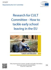 How to tackle early school leaving in the EU