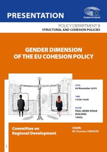 Gender Dimension of the EU Cohesion Policy