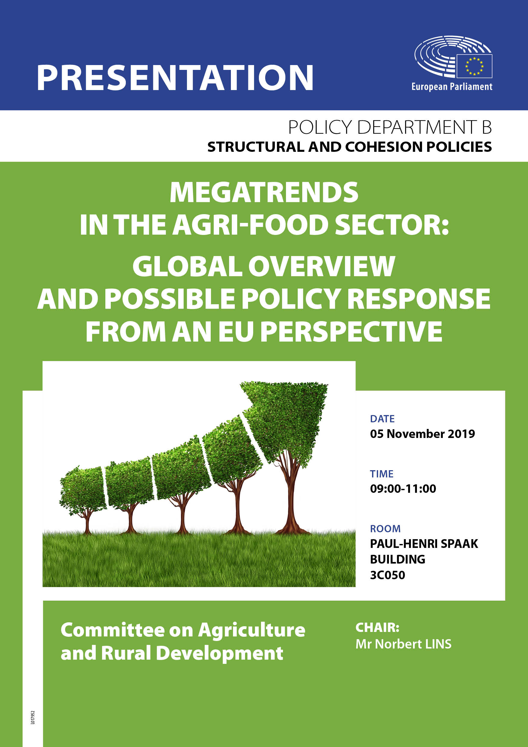 Megatrends in the agri-food sector: global overview and possible policy response from an EU perspective