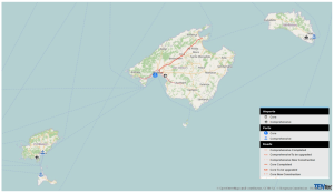 Map 3:  The TEN-T Core and Comprehensive Network Infrastructures - Balearic Islands