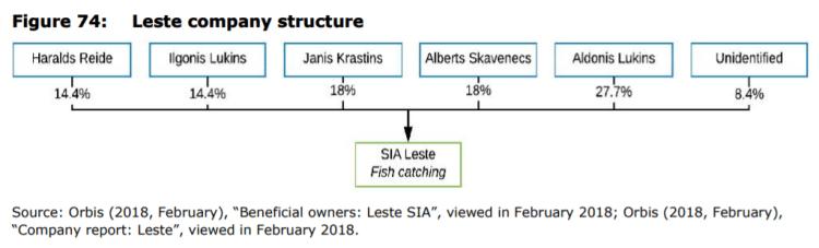 Figure 74: Leste company structure
