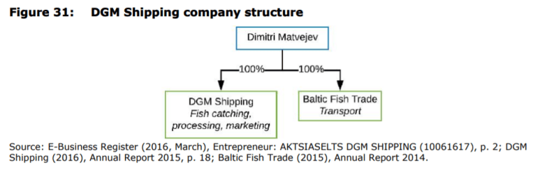 Figure 31: DGM Shipping company structure