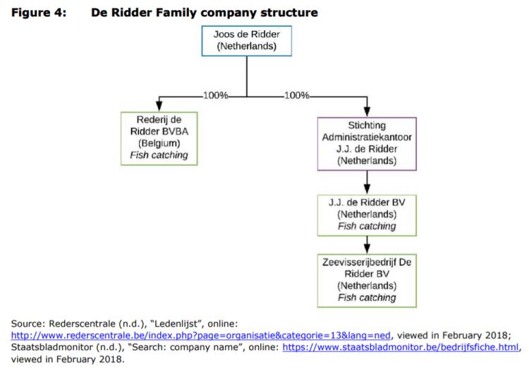 Figure 4: De Ridder Family company structure