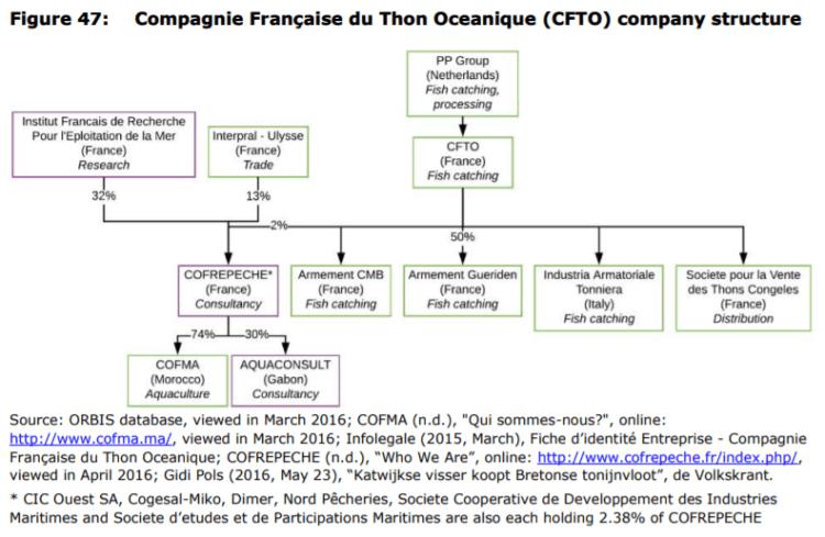 Figure 47: Compagnie Française du Thon Oceanique (CFTO) company structure