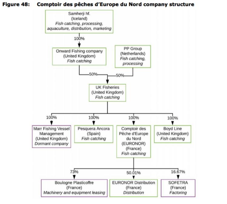 Figure 48: Comptoir des pêches d'Europe du Nord company structure