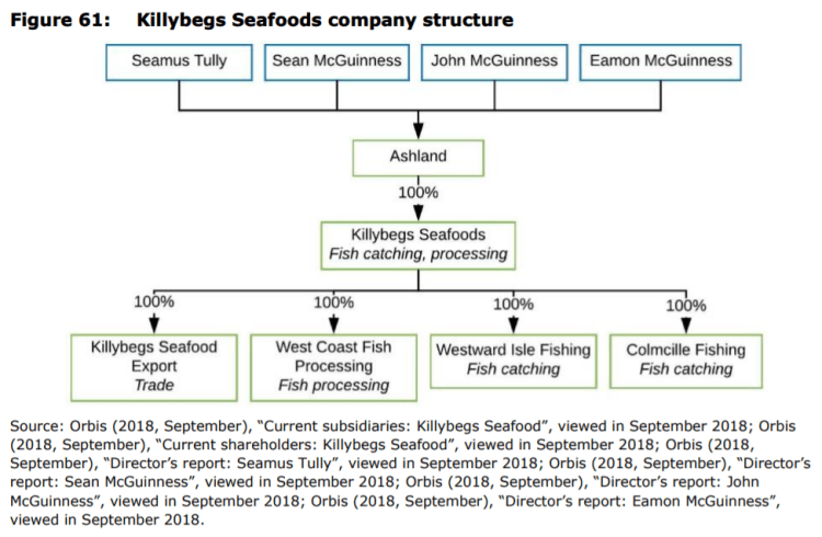 Figure 61: Killybegs Seafoods company structure