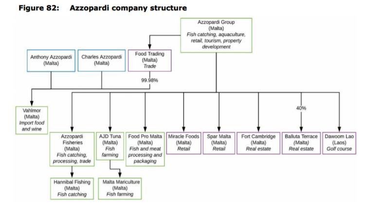 Figure 82: Azzopardi company structure