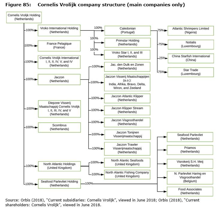 Figure 85: Cornelis Vrolijk company structure (main companies only)