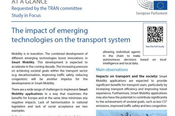 At a glance: The impact of emerging technologies on the transport system