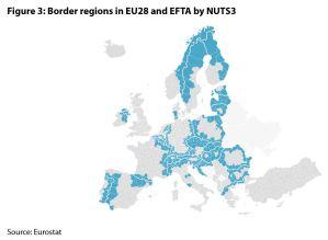 Figure 3: Border regions in EU28 and EFTA by NUTS3