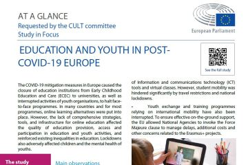 At a glance: Education and Youth in post-Covid-19 Europe – Crisis Effects and Policy Recommendations