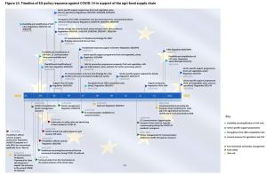 Figure 23. Timeline of EU policy response against COVID-19 in support of the agri-food supply chain