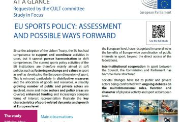At a glance: EU sports policy: assessment and possible ways forward