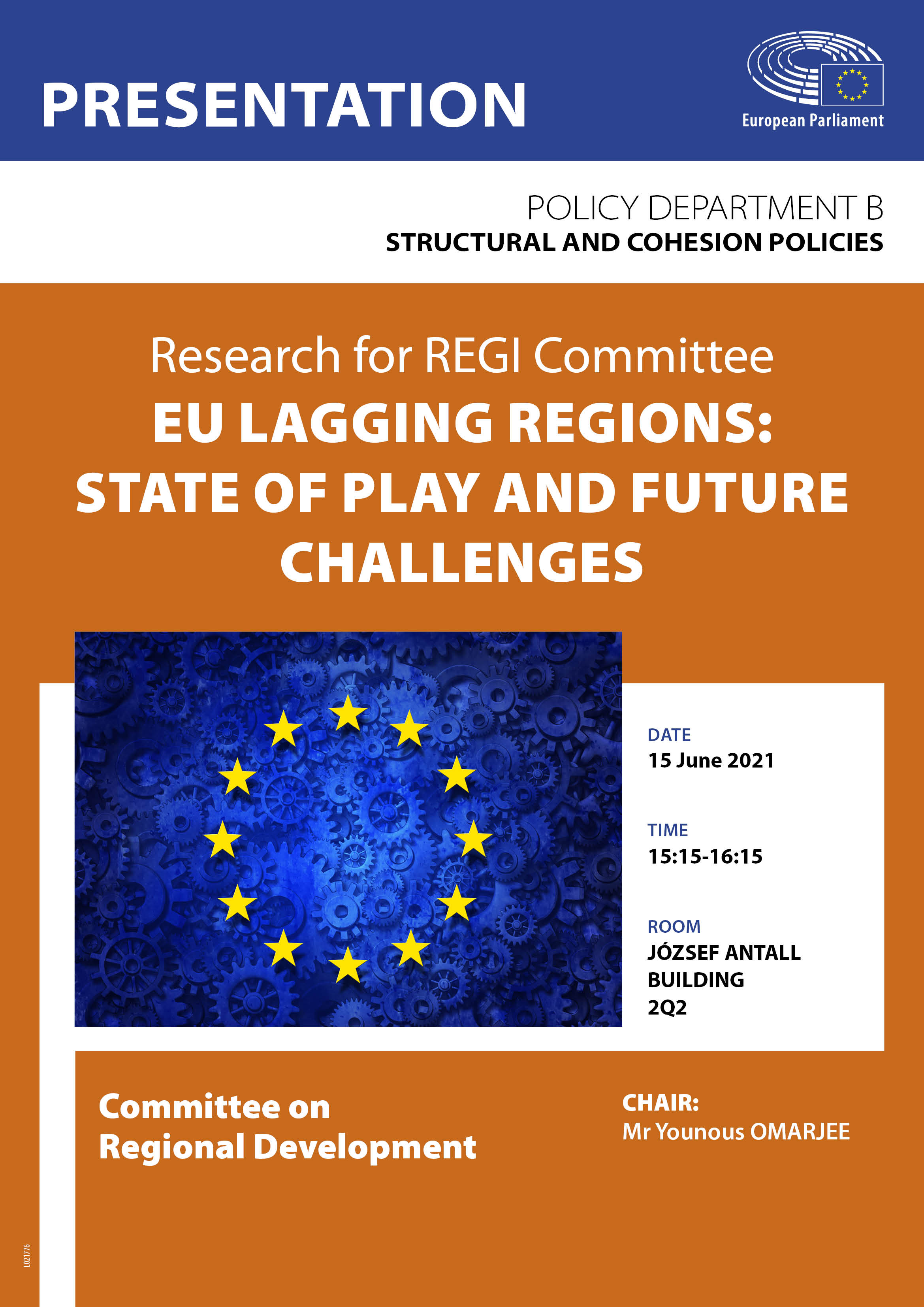 Poster: EU lagging regions: State of play and future challenges