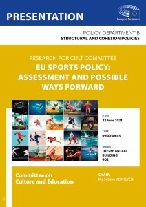 Poster: EU sports policy: assessment and possible ways forward