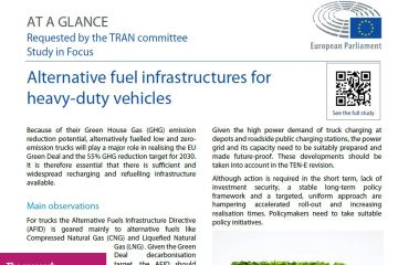 Alternative fuels infrastructure for heavy-duty vehicles