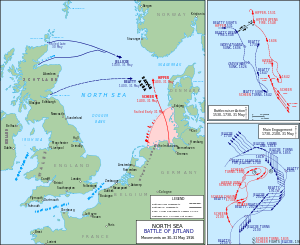 Battle of Jutland Map