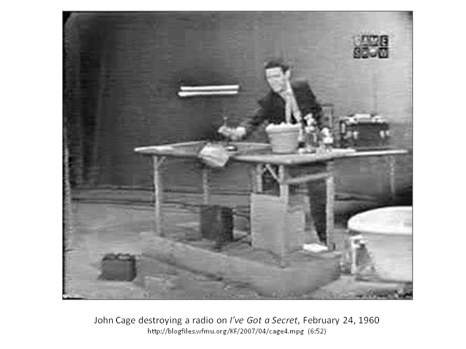 John Cage Water Music Sound Art Text Part 63