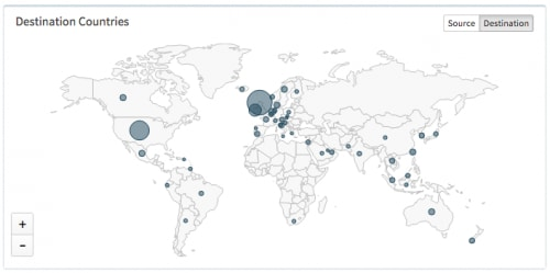 dridex map