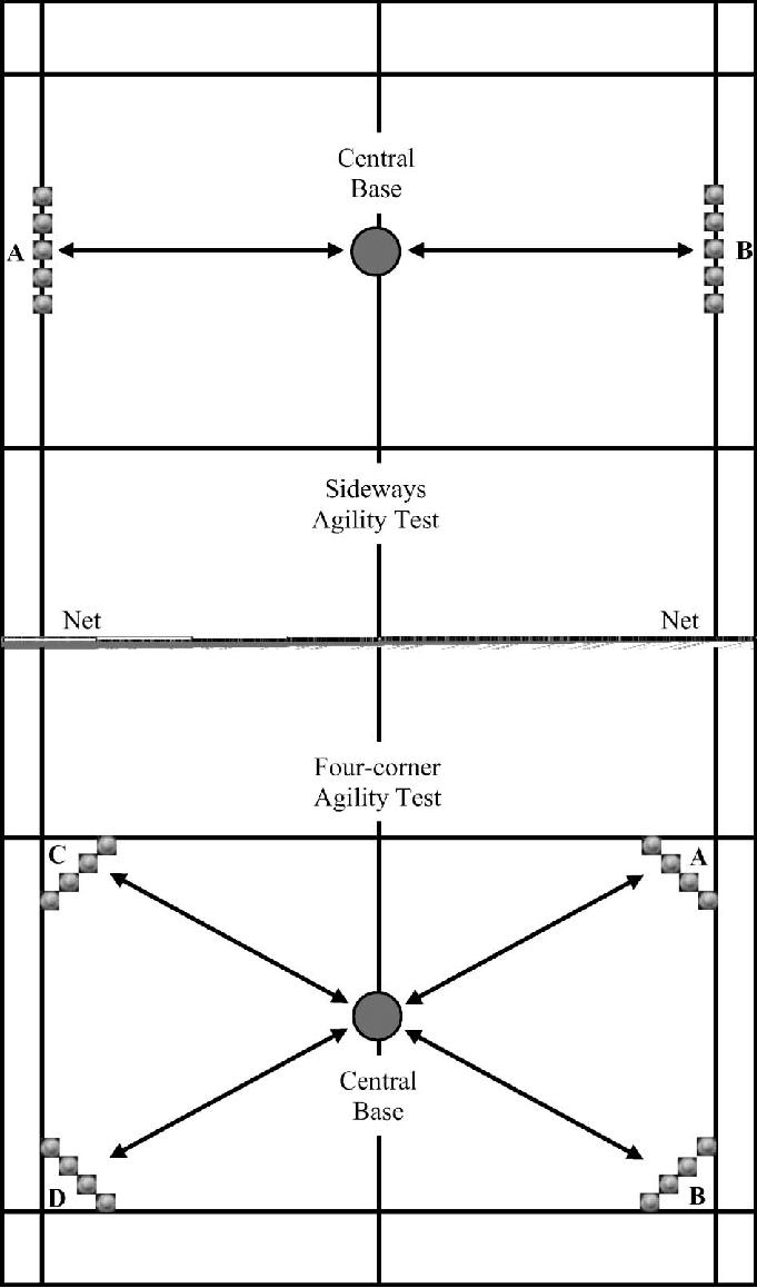 Tinggi Net Badminton : tinggi, badminton, Set-up, Badminton-specific, Movement, Agility, Tests, Court...., Download, Scientific, Diagram