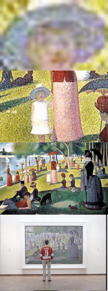 Ile De La Grande Jatte : grande, jatte, Extreme, Closeup, Georges, Seurat's, Dimanche, Après-midi, L'Île, De..., Download, Scientific, Diagram