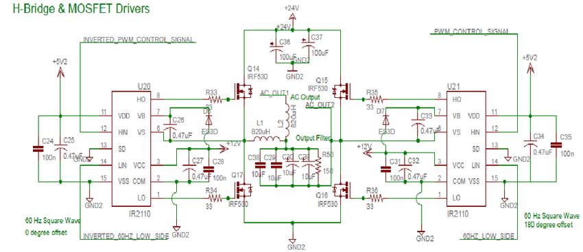 Full H-bridge And Driver Circuits.