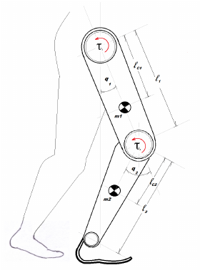 Prosthetic Leg Drawing : prosthetic, drawing, Prosthetic, Configuration, Based, 2-DOF, Serial, Mechanism., Download, Scientific, Diagram