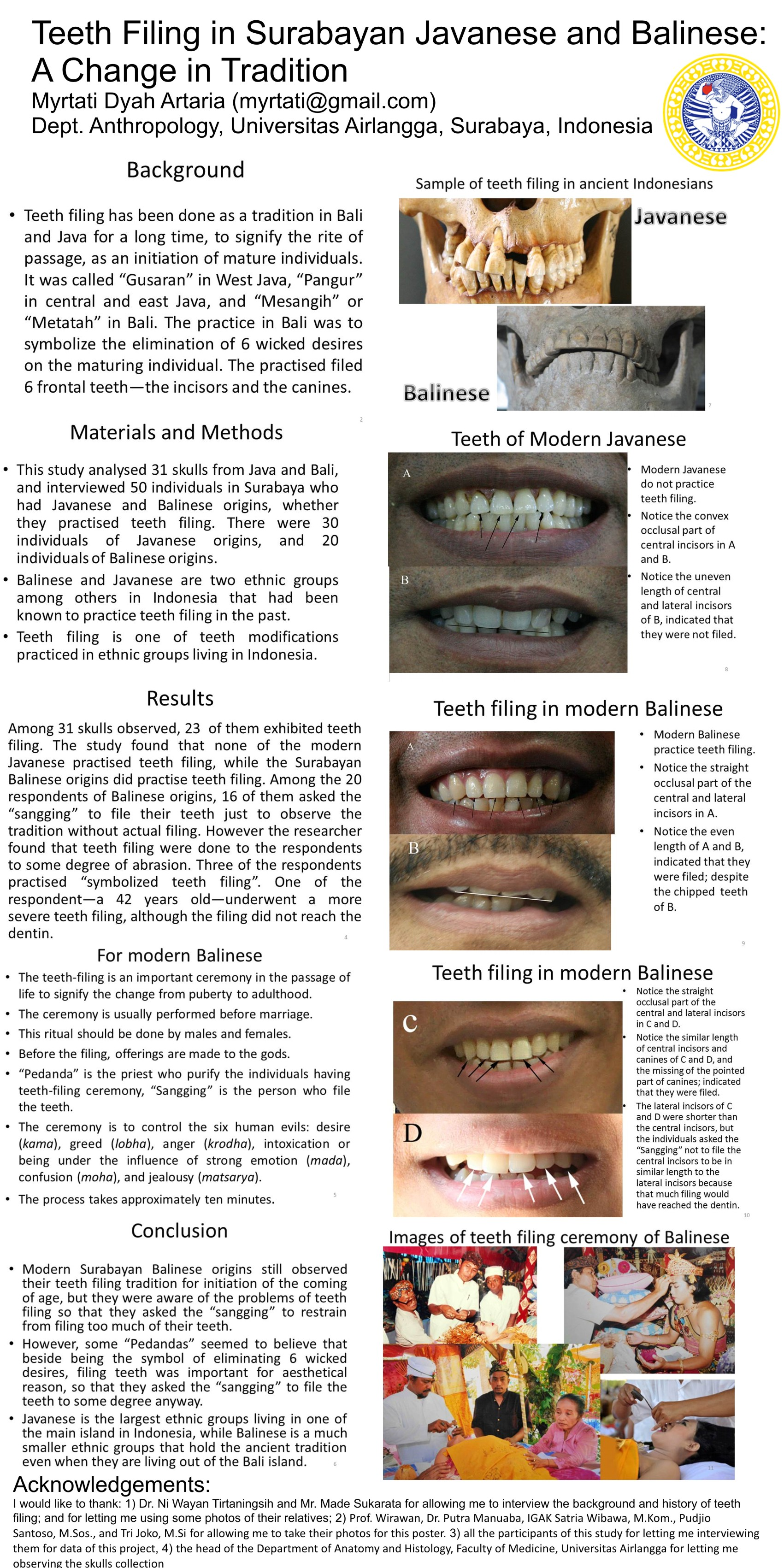 Filing Canine Teeth Before And After : filing, canine, teeth, before, after, Teeth, Filing, Surabayan, Javanese, Balinese:, Change, Tradition